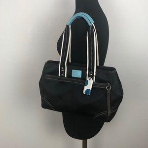 Coach Black Nylon Shoulder Bag
